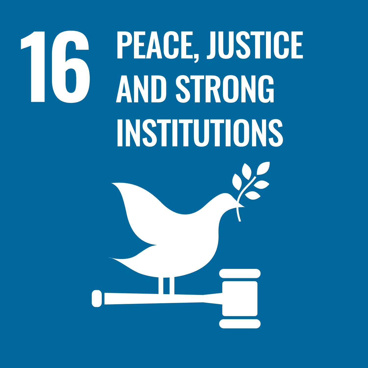 16 PEACE,JUSTICE AND STRONG INSTITUTIONS